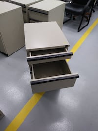Small 3 drawer file cabinets on wheels  DAYTON