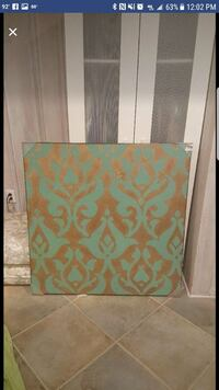 Teal And Gold print canvas  Satellite Beach, 32937