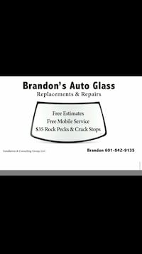 Auto Glass Installer Florence, 39073