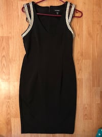 LE CHATEAU GOLD AND SILVER DETAIL DRESS
