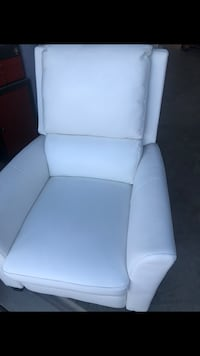 white leather padded sofa chair Manteca, 95336