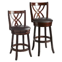Two Holbrook Brown Swivel Counter Stools From Pier 1.
