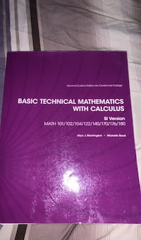 Basic technical mathematics with calculus Brampton, L6P 1R2