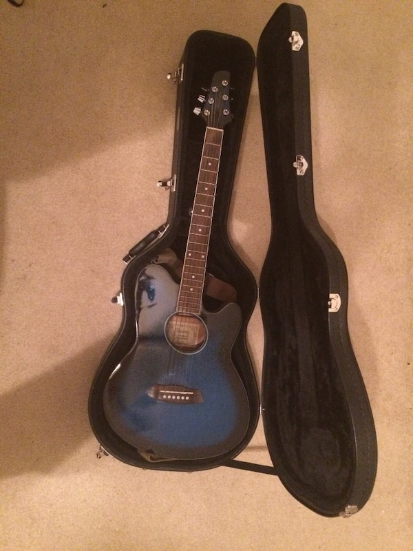 used ibanez acoustic electric guitar with hard case for sale in college station letgo. Black Bedroom Furniture Sets. Home Design Ideas