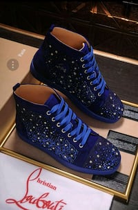 WOMENS CHRISTIAN LOUBOUTIN BLUE SUEDE STAR SHOES  Toronto