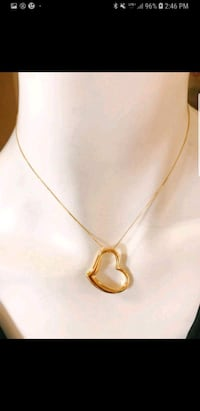 18k heart pendant necklace