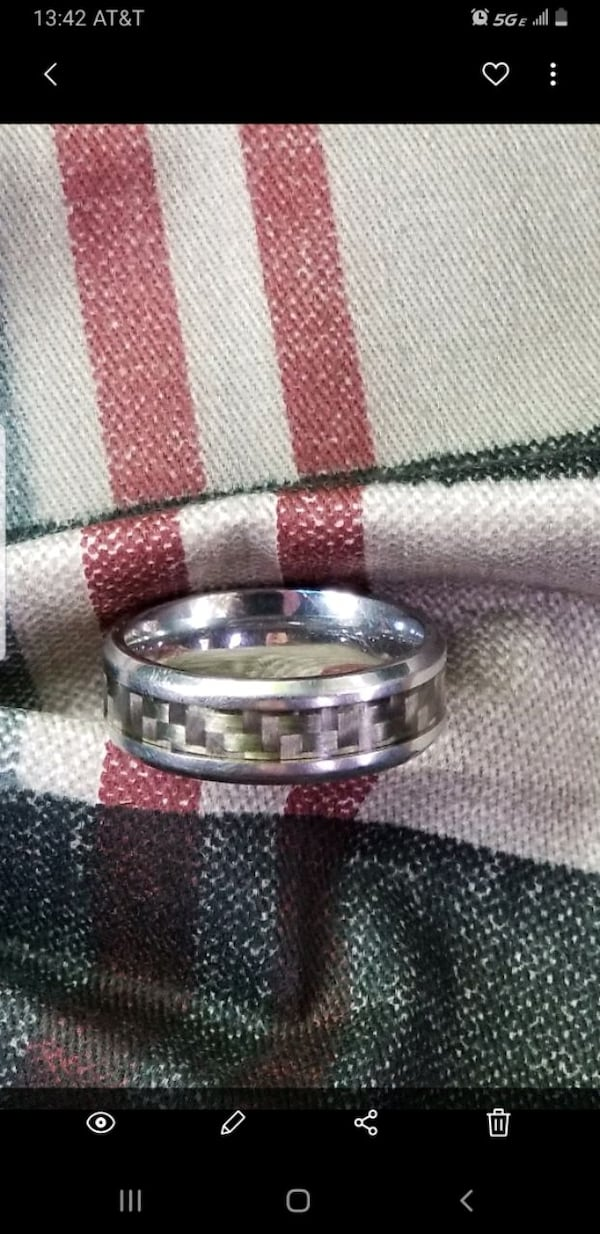 MGW Stainless Steel Wedding Band size 12 ee4a84aa-b320-4412-bc4a-7d5dfb9c7811