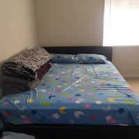Queen bed frame with mattress 28 km