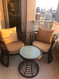3 pc modern patio/balcony/ porch set - like new. Purchased in June ... Toronto, M4Y 0A3