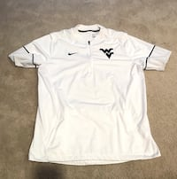Nike Men's West Virginia Mountaineers White Coaches Pullover Size Large (L) Teays Valley
