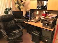 Office desk and chair (and hutch) Largo, 33771