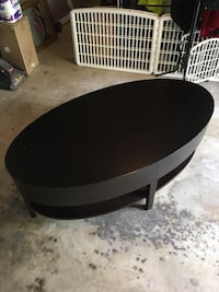 Round black wooden coffee table Fairfax Station, 22039