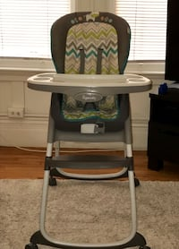 baby's white and black high chair San Francisco, 94109