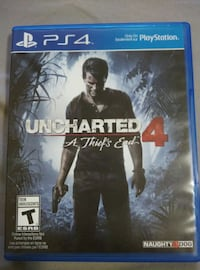 PS4: Uncharted 4. A thief's end game case Toronto, M9V 4H9