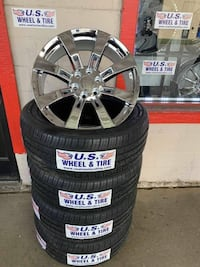 22 INCH CHROME WHEELS $799 ONLY ALL 4 NEW