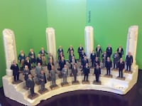 Vintage set of 37 presidential figures and display stand. Falls Church, 22042