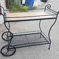 wrought iron tea cart.   Danville