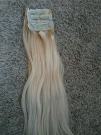Blonde extentions never worn 100% real hair