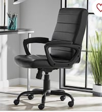 Mainstays Bonded Leather Mid-Back Manager's Office Chair.
