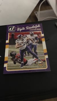 Kyle Rudolph NFL player card Houston, 77015