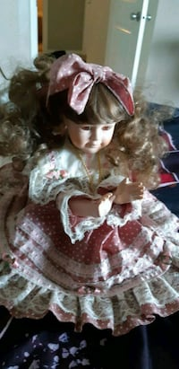 Porcelain Doll with synthetic eyelashes ( Airdrie) Airdrie