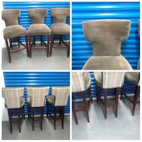 Three High End Cushion Back High Chairs  Hyattsville, 20781