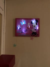 Disney lighted wall art. New York, 11222
