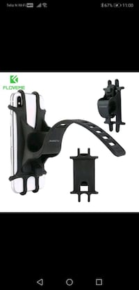 Silicone mobile holder for bicycle