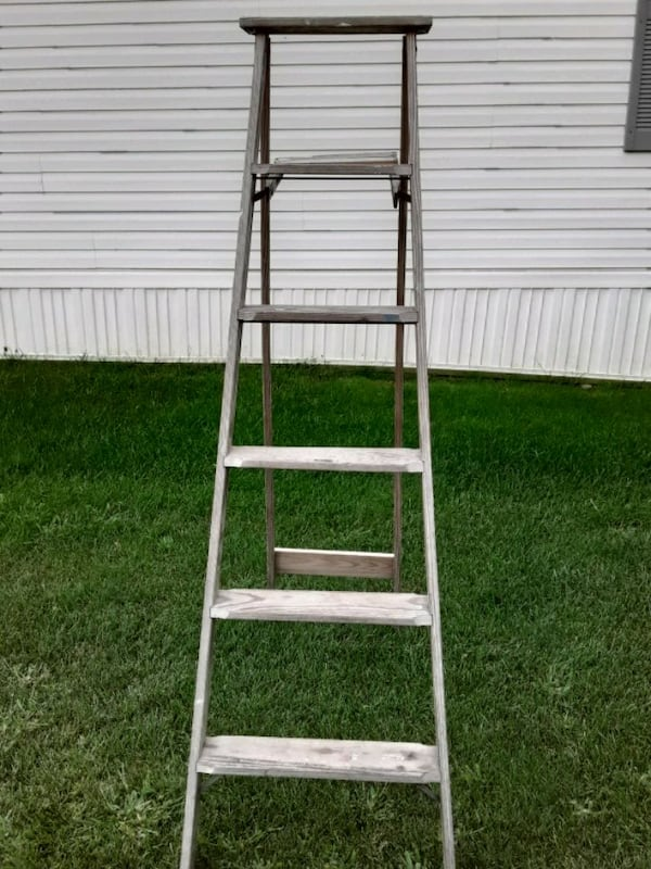 Two Wooden Vintage Ladders 5