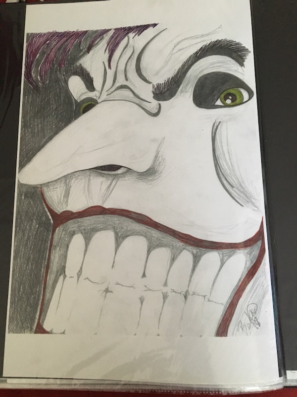 Used The Joker Face Original Drawing For Sale In Rochester