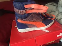 blue and orange high-top sneakers Opa Locka, 33054