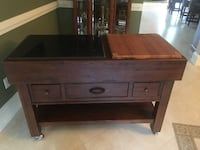 Cherry Wood Prep Table Cart PHILADELPHIA