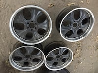 four chrome 5-spoke car wheels Los Angeles, 90001