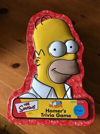 The Simpsons Homer's Trivia Game case