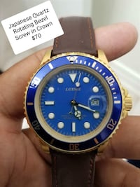 round blue and gold-colored analog watch Brampton, L6R 1K5