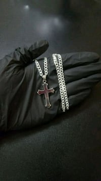 """Solid 925 Sterling Silver Cross + Chain 4.5mm 20"""" Mississauga, L4Y 4G4"""