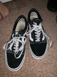 pair of black Vans low top sneakers Charlotte, 28215