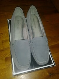 Grey Wedge Shoes (New) Queens
