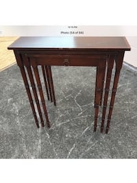 Antique French Mahogany 3 Nesting Table with Faux Bamboo legs Houston, 77055