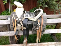 black and brown leather horse saddle Fairfield, 94533