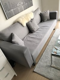 Grey couch *IT FLIPS AND TURNS INTO A BED*  Price: $450 Negotiable Toronto, M5V 4A8