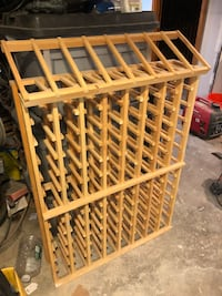 Wooden Wine Rack and Display