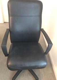 black leather padded rolling armchair Rockville, 20850