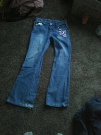 blue denim straight cut jeans 470 mi