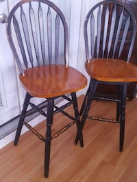 two brown wooden windsor chairs Universal City, 78148