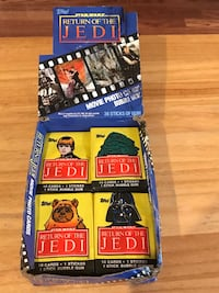 Star Wars 25 packs of Return of the Jedi Collector Cards with Gum Livermore, 94551