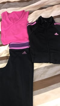 Adidas set: pants, shirt, jacket size small Surrey, V3S 2H7