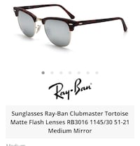 RayBan 3016 clubmaster sunglasses
