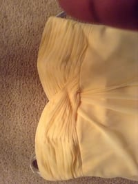 Canary yellow formal tea length dress Baltimore