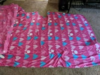 two blue and pink floral textiles Lambertville, 48144